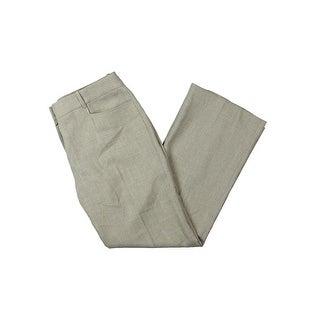 Tahari ASL Womens Petites Dress Pants Pattern Flat Front
