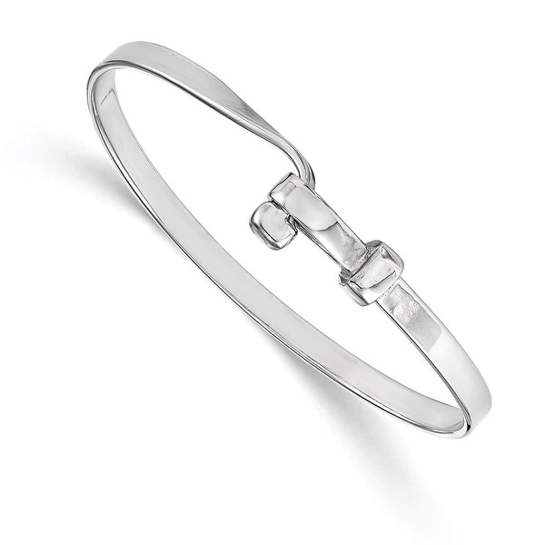 Italian Sterling Silver Polished Bangle