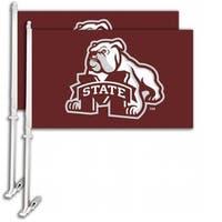 Bsi Products  Car Flag W/Wall Brackett  - Mississippi State Bulldogs