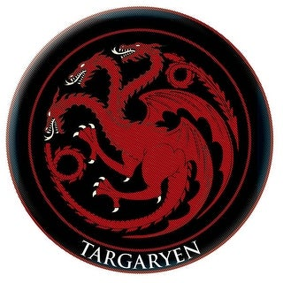Game Of Thrones Crest Patch: Targaryen - Black