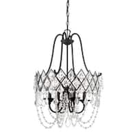 "Designers Fountain 90331 Ravina 4 Light 20"" Wide Single Tier Mini Chandelier with Crystal Accents"