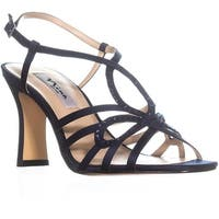 Nina Amabel Slim Heel Strappy Sandals, New Navy Luster