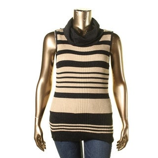 Joseph A Womens Metallic Striped Tank Top Sweater