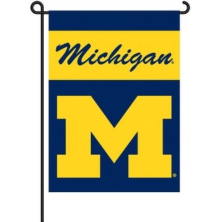 University of Michigan Wolverines Garden Flag