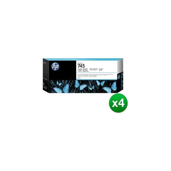 HP 745 300-ml DesignJet Photo Black Ink Cartridge (F9K04A)(4-Pack)