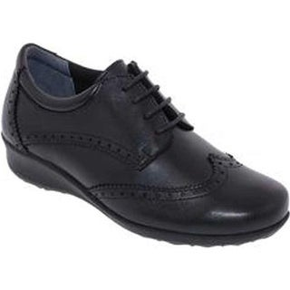 Drew Women's Rome Wingtip Black Leather