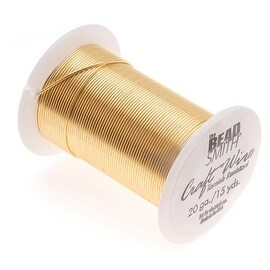 Beadsmith Tarnish Resistant Gold Color Copper Wire 20 Gauge 15 Yards (13.5 Meters)