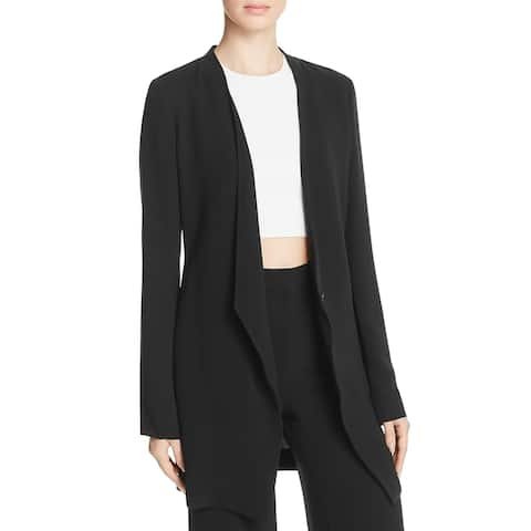 Theory Womens Winola Topper Jacket Admiral Crepe Pockets