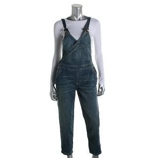 Free People Womens Overall Jeans Spring Wash Surplice