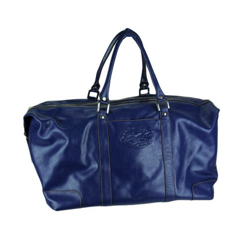 Florida Gators Blue Embossed Leather Duffle Bag - 16 X 20 X 10.5 inches