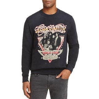 Eleven Paris Mens Aerosmith World Tour Sweatshirt Medium Black 17S1SW408