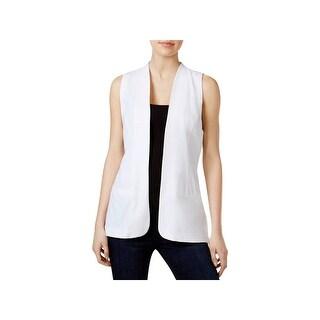 Kensie Womens Vest Sheer Pleated