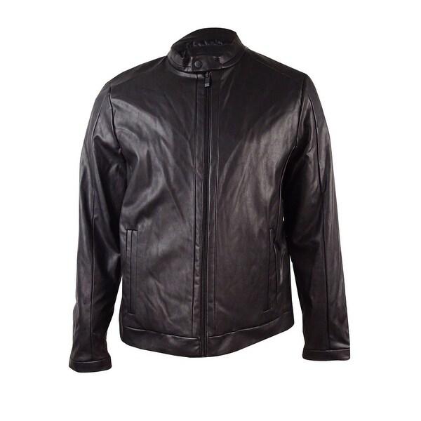 c9adb6d0a Shop Calvin Klein Men's Faux-Leather Moto Jacket - Free Shipping ...