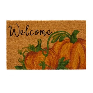 Welcome Pumpkin Fall Coir Door Mat