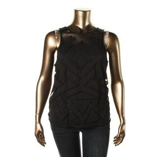 Lucky Brand Womens Modal Blend Applique Tank Top - XL