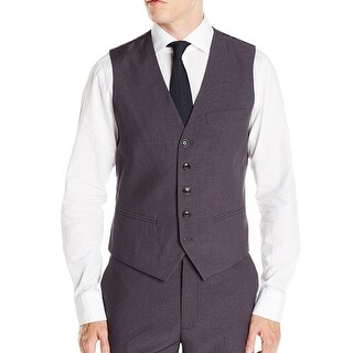 Kenneth Cole Reaction NEW Gray Mens Size Small S Five-Button Grid Vest