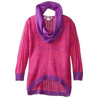 Derek Heart Girls Hi-Low Long Sleeves Pullover Sweater - M