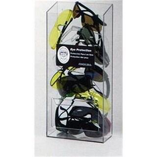 RackEm Racks 20-Pair Visitor Safety Glasses Dispenser No Lid - Clea