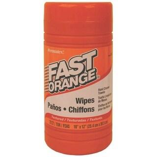 Permatex 25051 Fast Orange Hand Cleaner Wipes, 72 Count
