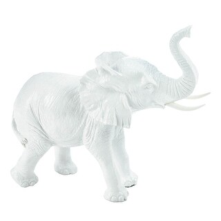 Indoor White Elephant Figurine