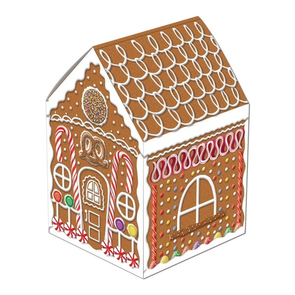 """Club Pack of 12 Gingerbread House Centerpiece Christmas Decorations 8"""""""
