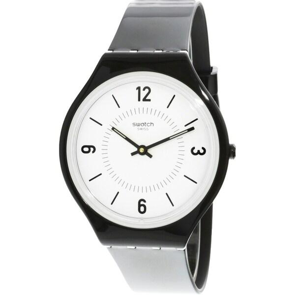 a0578439bda7 Shop Swatch Skinsuit Black Plastic Swiss Quartz Fashion Watch - Free  Shipping Today - Overstock - 19508829