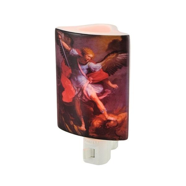 Michael Slaying Lucifer Porcelain Oil Burner Night Light - Red