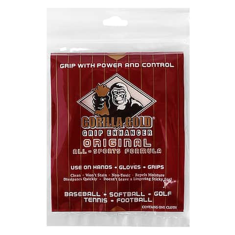 Gorilla Gold Original Reusable All Sport Tackifying Grip Enhancer Towel