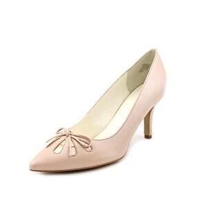 Anne Klein Yasmeen Women Pointed Toe Leather Pink Heels