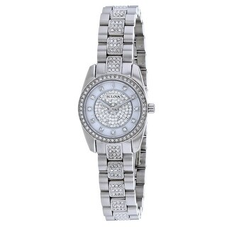Bulova Women's Crystal 96L253 Mother of Pearl Dial watch