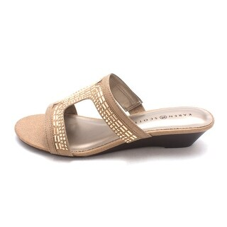 Karen Scott Womens SERYNE Open Toe Casual Slide Sandals