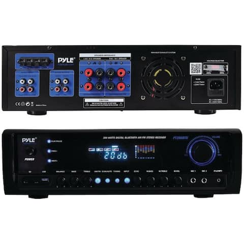 """Digital Home Theater Bluetooth® Stereo Receiver - 4.7""""H x 12.2""""W x 16.9""""D"""