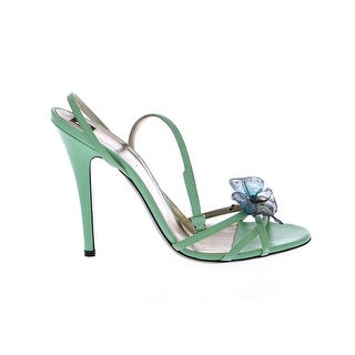 Dolce & Gabbana Green Strappy Leather Pumps Shoes - 39
