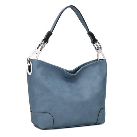 MKF Collection Emily Soft Vegan Leather Hobo Handbag by Mia K.