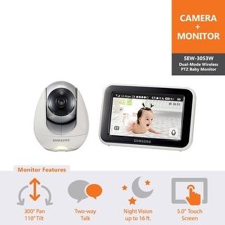 Samsung SEW-3053W BabyView Baby Video Monitoring System IR Night Vision PTZ 5.0 inch