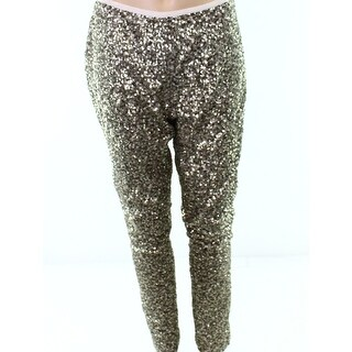 Lauren By Ralph Lauren Silver Women's Size 6 Sequined Dress Pants