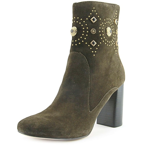 Sigerson Morrison Sheyla Women Round Toe Suede Green Ankle Boot