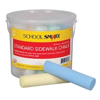 School Smart Sidewalk Chalk, 4 x 1 Inches, Assorted Colors, Pack of 20