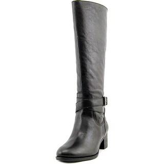 Nine West Vani Wide Calf Women Round Toe Leather Knee High Boot