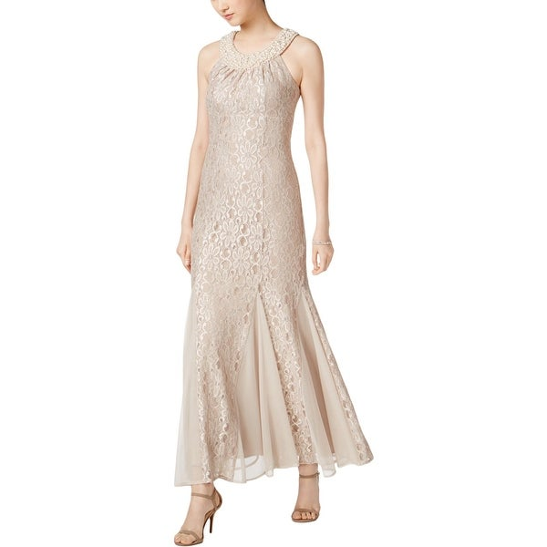 R&M Richards Womens Evening Dress Lace Embellished