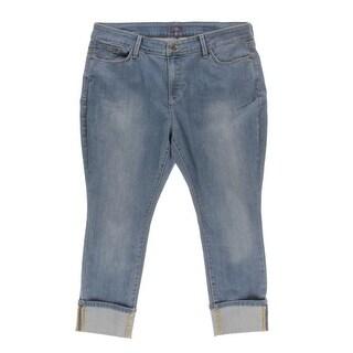 NYDJ Womens Plus Lorena Boyfriend Slimming Fit Capri Jeans - 18p
