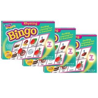 (3 Ea) Bingo Rhyming Ages 4 & Up