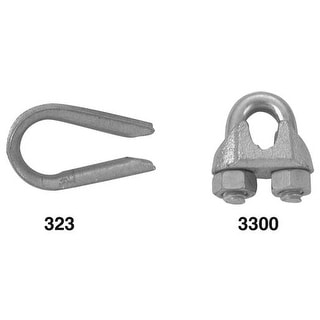 """Apex Cooper Campbell 1/16"""" Wire Rope Clip T7670409 Unit: EACH"""