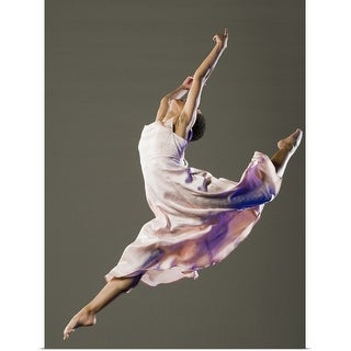 """Female ballet dancer jumping"" Poster Print"