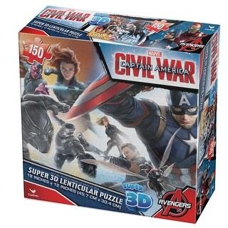 Captain America 3D 100 Piece Puzzle