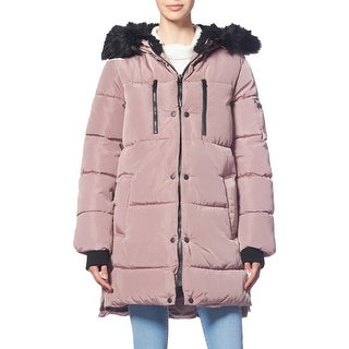 Link to Jessica Simpson Women's Water Resistant Quilted Mid Length Puffer Coat with Faux Fur Trim Hood Similar Items in Women's Outerwear
