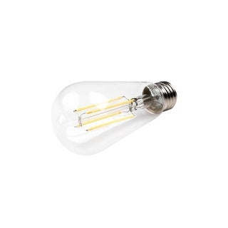 Pack of (5) 7 Watt Vintage Edison Dimmable ST18 Medium (E26) LED Bulbs