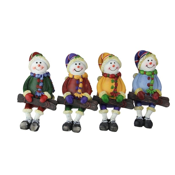 """Club Pack of 48 Sitting Snowman With Ski's Table Top Figures 5"""" - multi"""