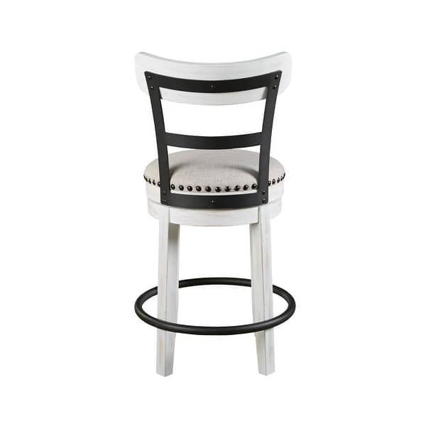 Valebeck White Counter Height Swivel Stool N A On Sale Overstock 28029369