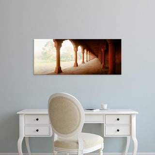 Easy Art Prints Panoramic Images's 'Corridor of a fort, Agra Fort, Agra, Uttar Pradesh, India' Premium Canvas Art